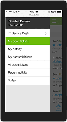 Giva Mobile Ticket View Slideout