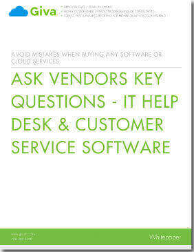 Ask Vendors Key Questions - IT Help Desk & Customer Service Software