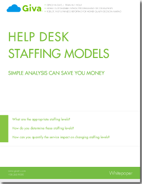 Methodology for Optimizing Help Desk & Customer Service/Call Center Staffing to Save Money