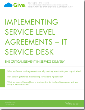 Implementing Service Level Agreements - IT Service Desk