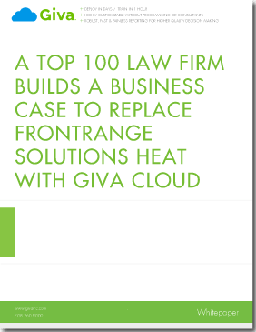 Top 100 Law Firm Builds a Business Case to Replace FrontRange HEAT with Giva Cloud Computing