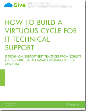 How to Build a Virtuous Cycle for IT Technical Support:  IT Help Desk Best Practises from Schulte Roth & Zabel LLP, an Award Winning Top 100 Law Firm