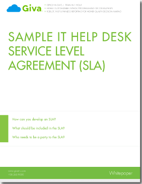Sample Service Level Agreement (SLA) - Help Desk & Customer Service Best Practices